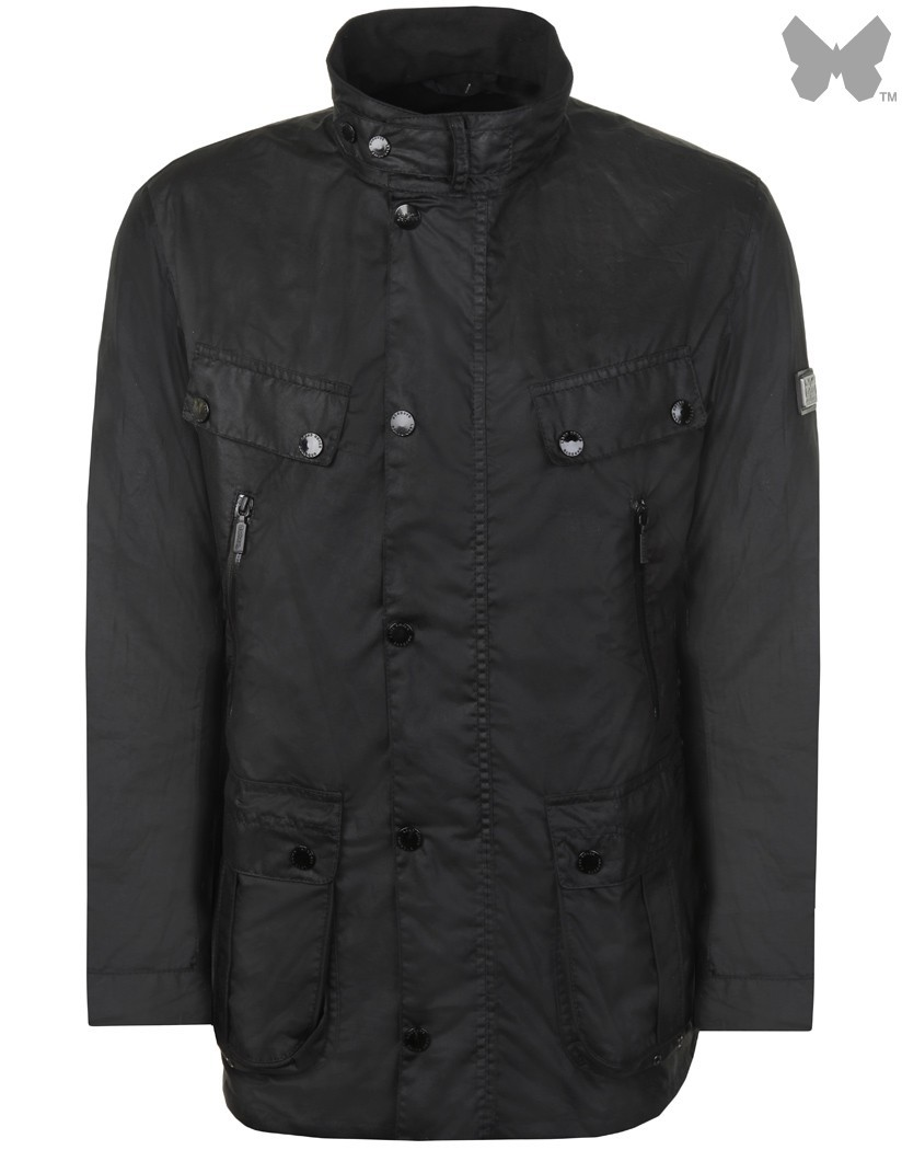 Barbour Black Linshiel Wax Jacket