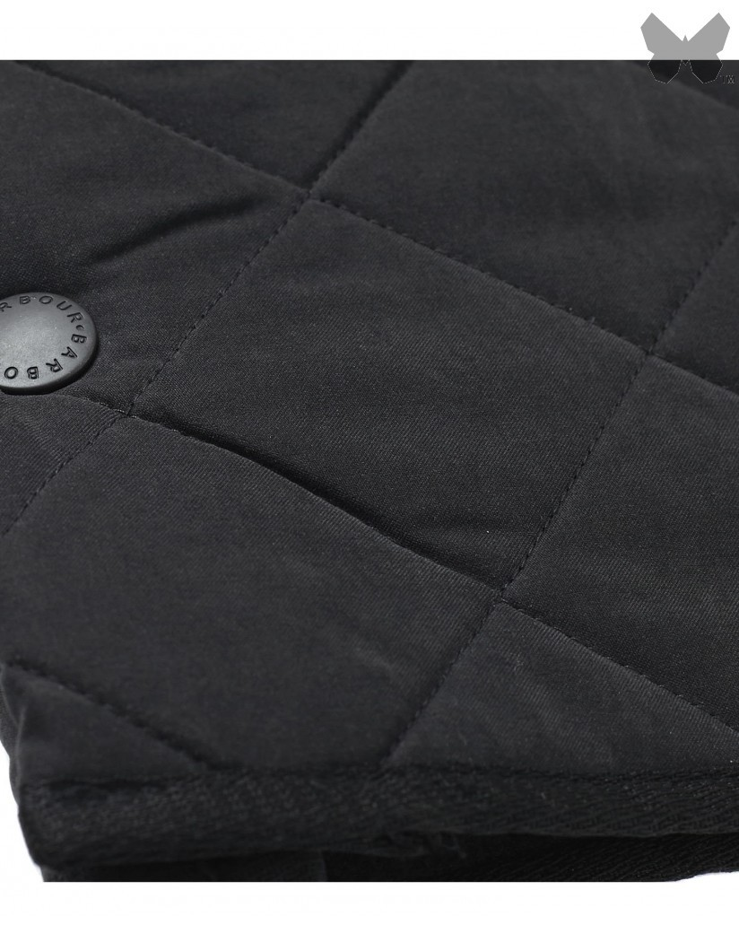 Barbour Black Microfibre Polarquilt Jacket