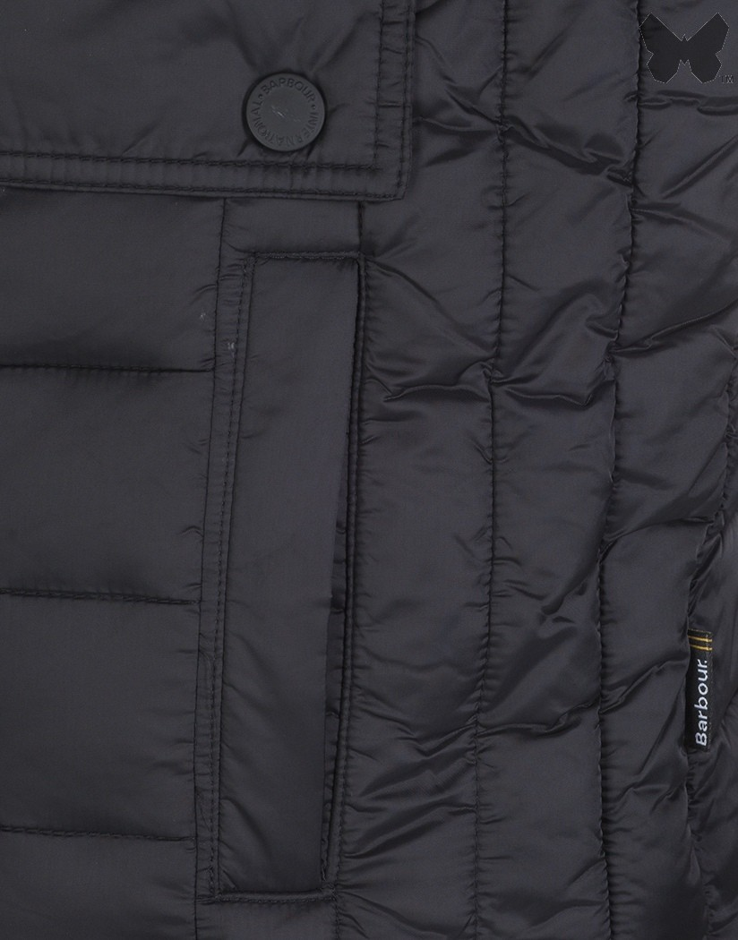 Barbour Black Ouston Quilted Jacket