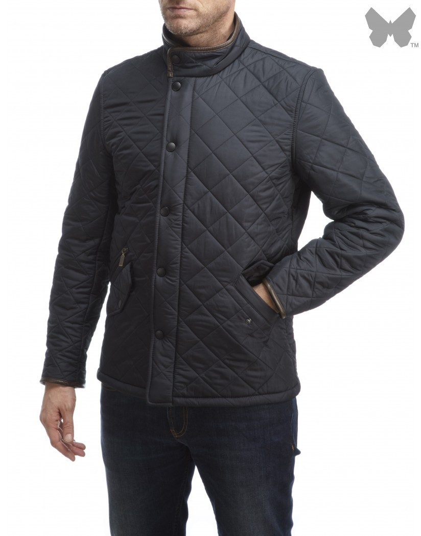 Barbour Navy Powell Quilt Jacket