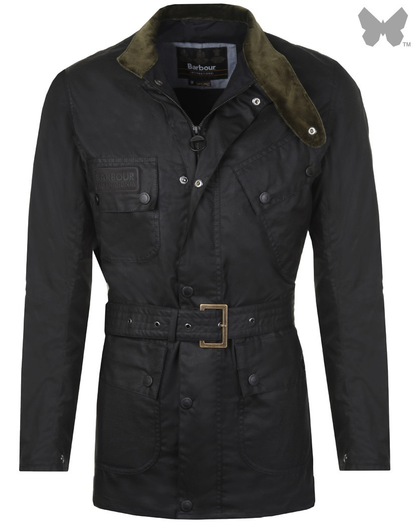 Barbour Black Scrambler Wax Jacket