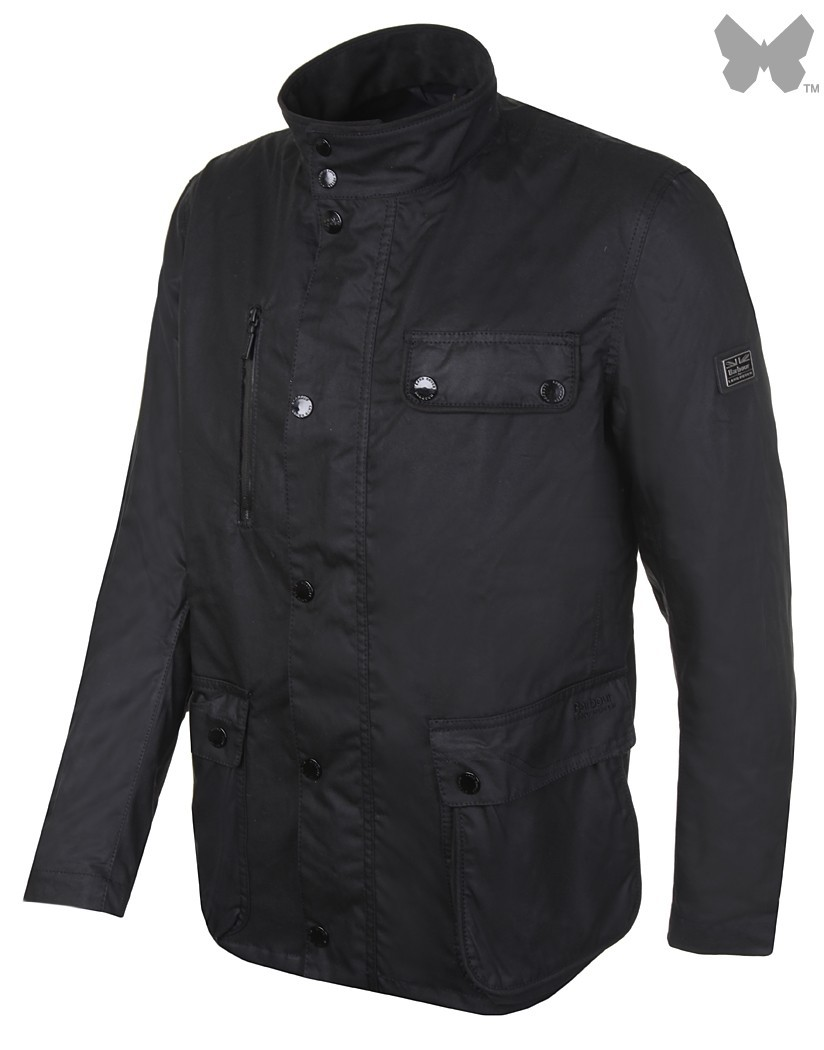 Barbour Black Spinney Wax Jacket