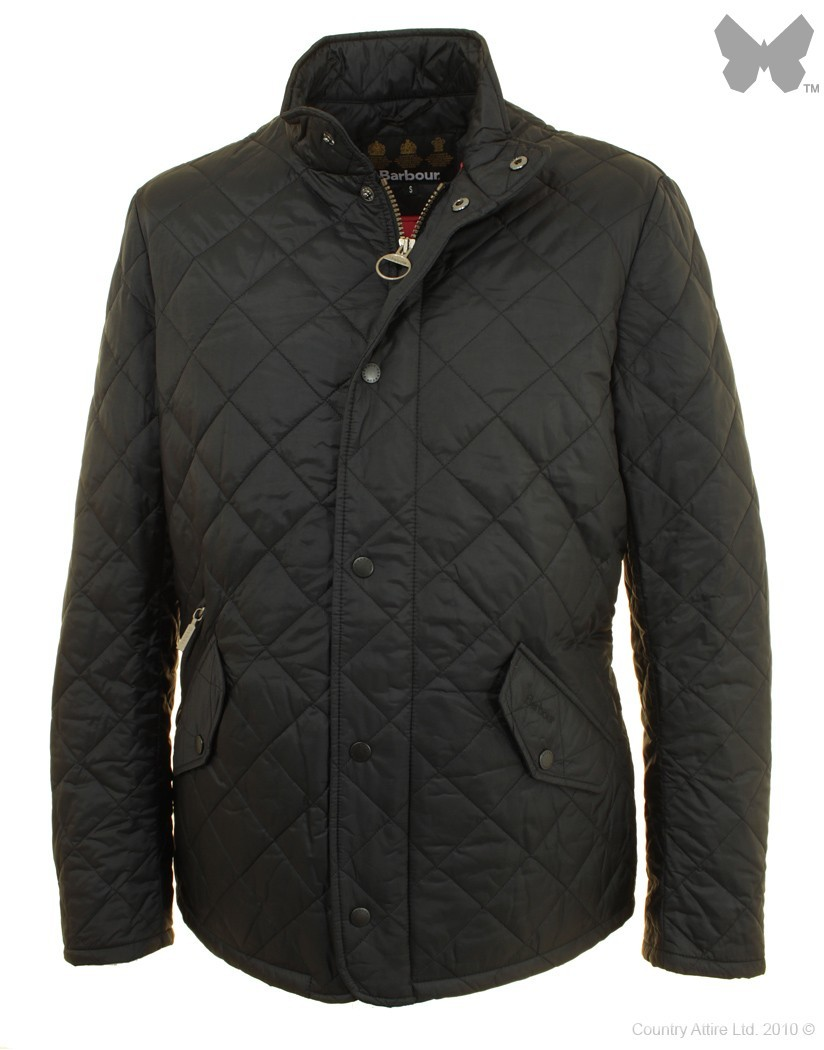 Barbour Black Red Flyweight Chelsea Jacket