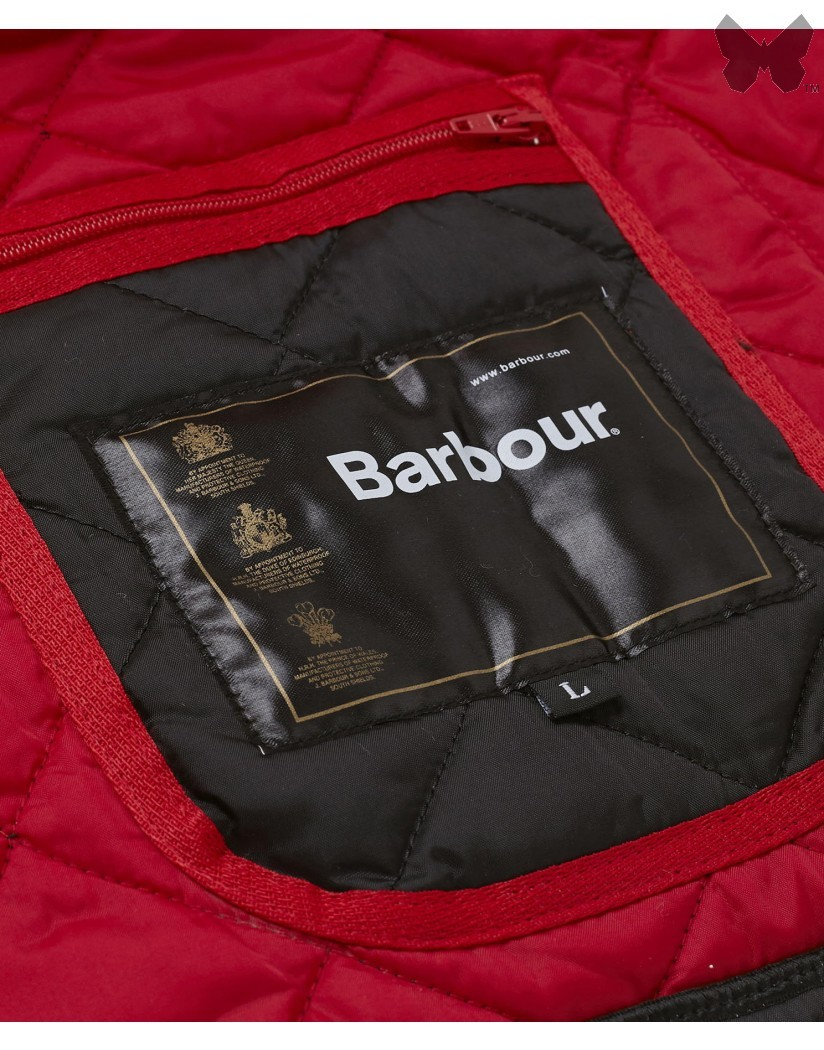 Barbour Black Red Liddesdale Jacket
