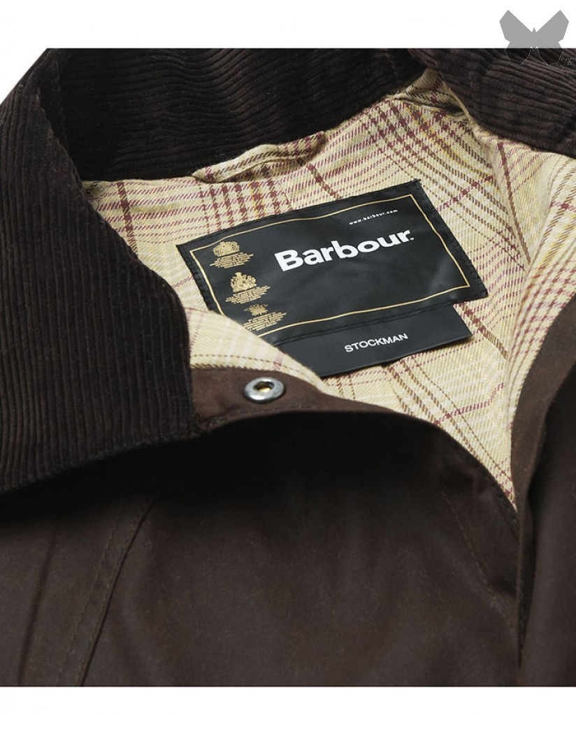 Barbour Brown Stockman Long Wax Coat