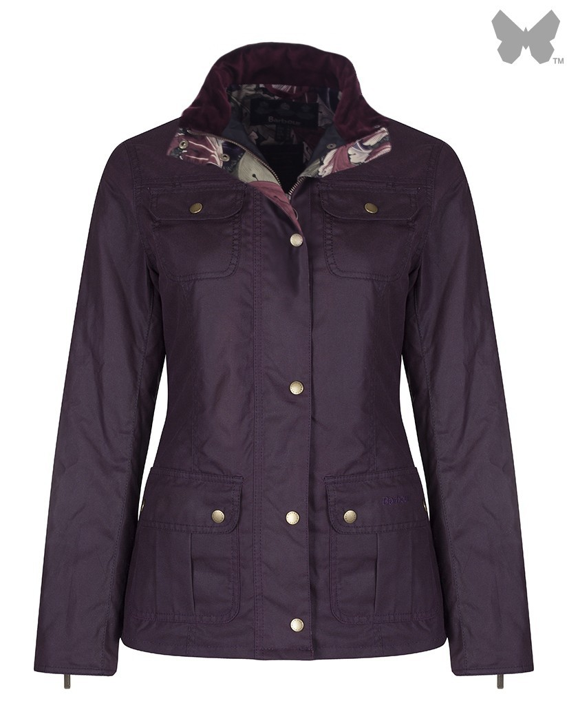 Barbour Damson Ruskin Wax Jacket