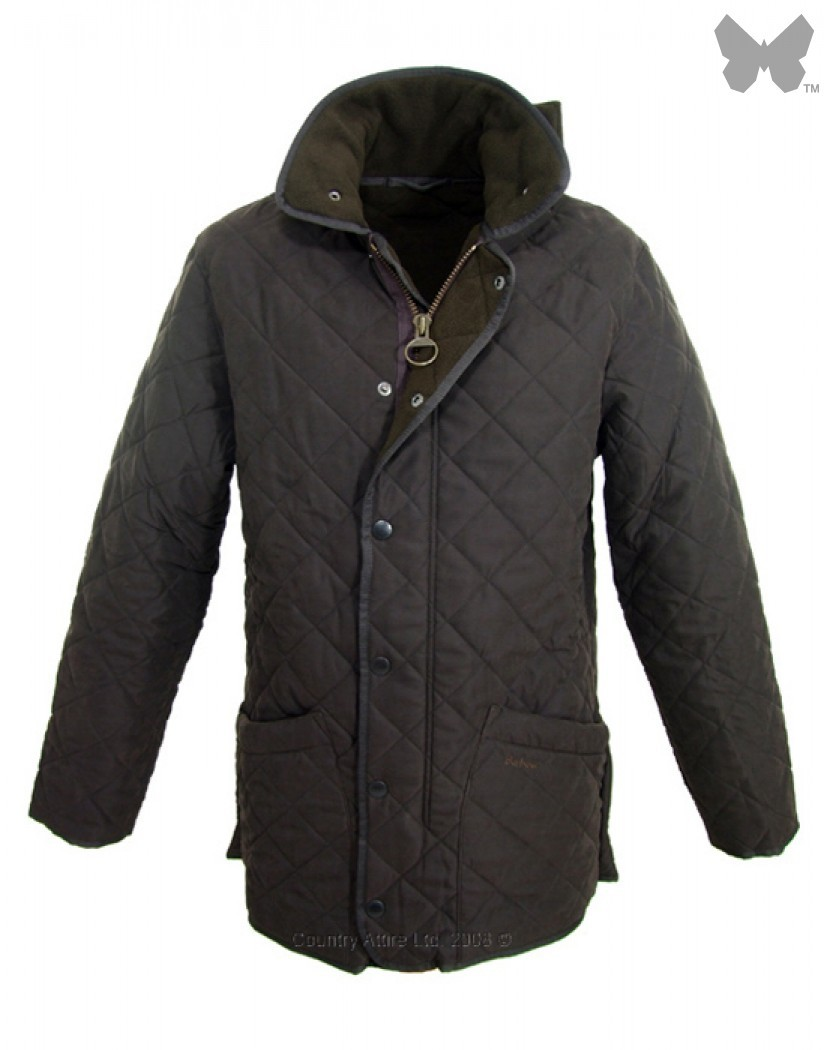 Barbour Dark Brown Microfibre Polarquilt Jacket