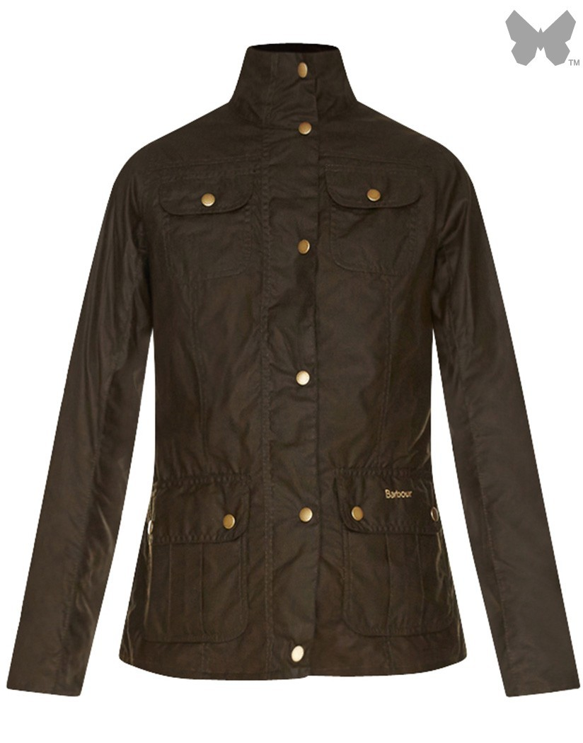 Barbour Fern/Strawberry Thief Emma Wax Jacket