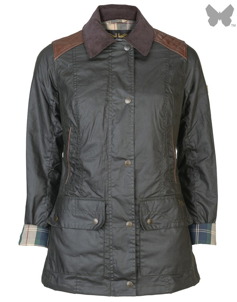 Barbour Light Olive Staward Wax Jacket