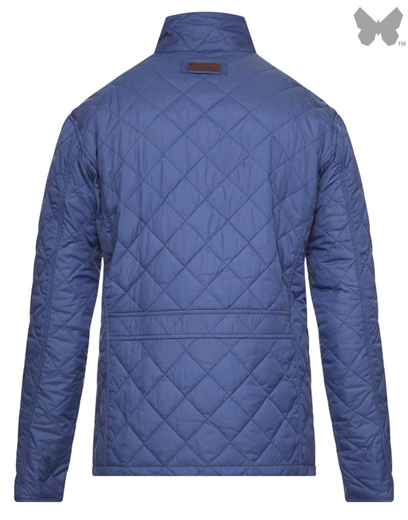 Barbour Mid Blue Explorer Quilted Jacket