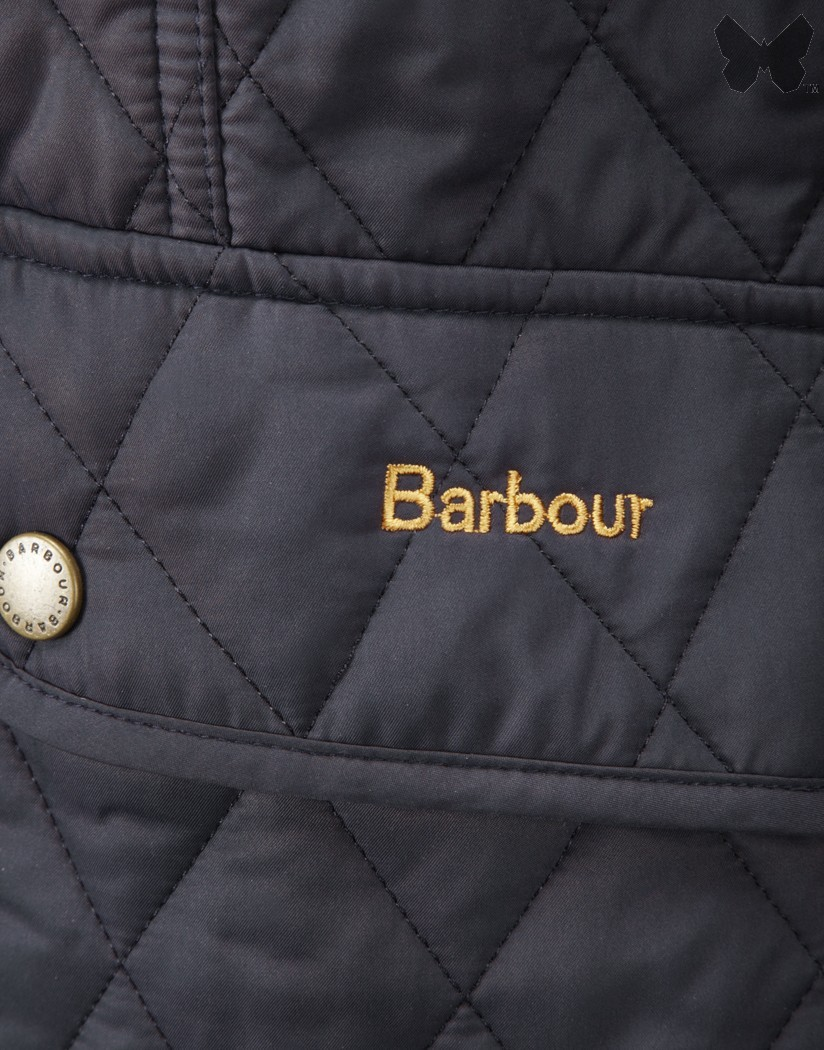 Barbour Navy/Dress Tartan Kendal Quilt Jacket
