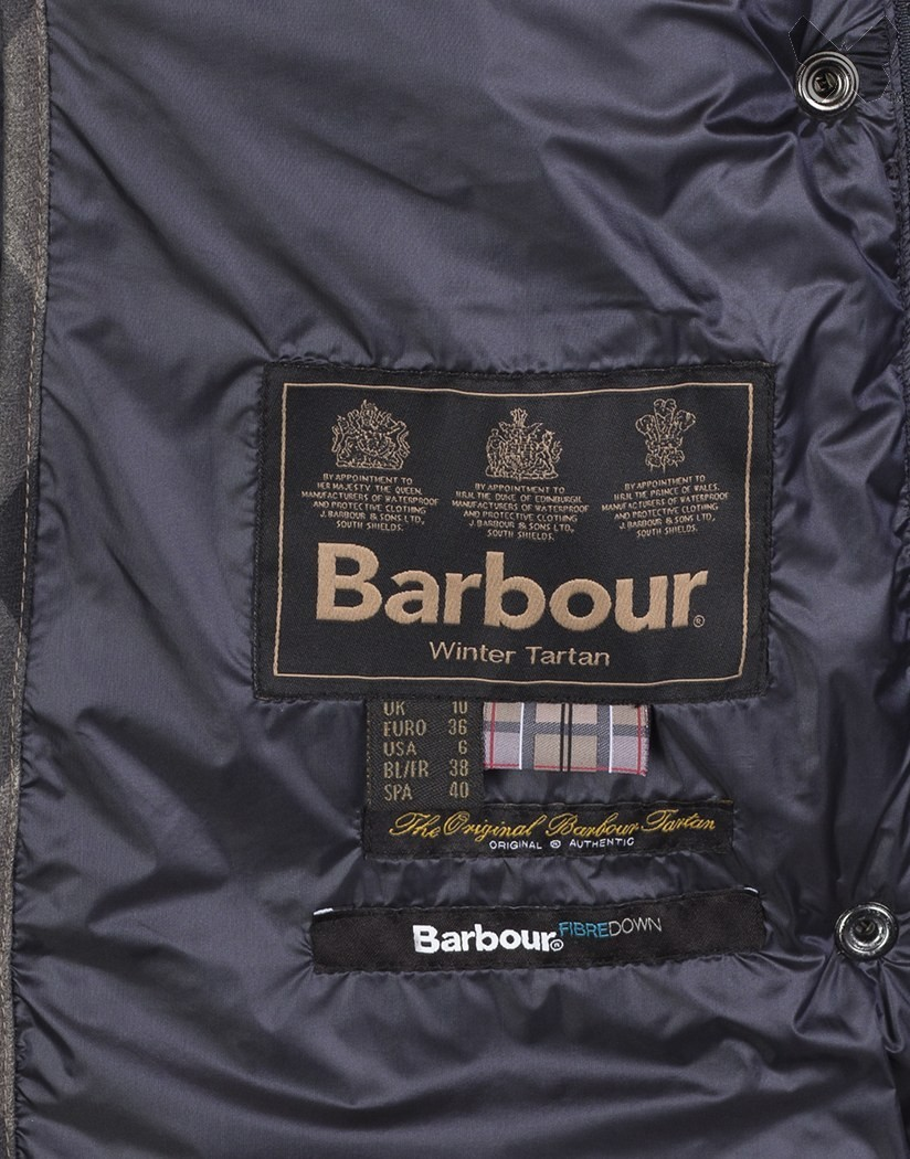 Barbour Navy Clyde Long Quilted Jacket