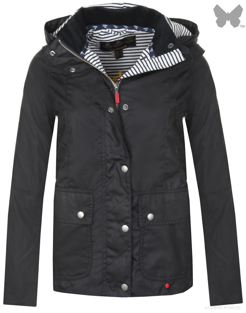 Barbour Navy Lifestyle Godrevy Wax Jacket