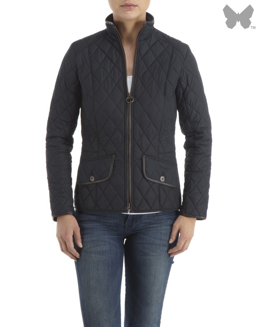 Barbour Navy Stallion Quilt Jacket