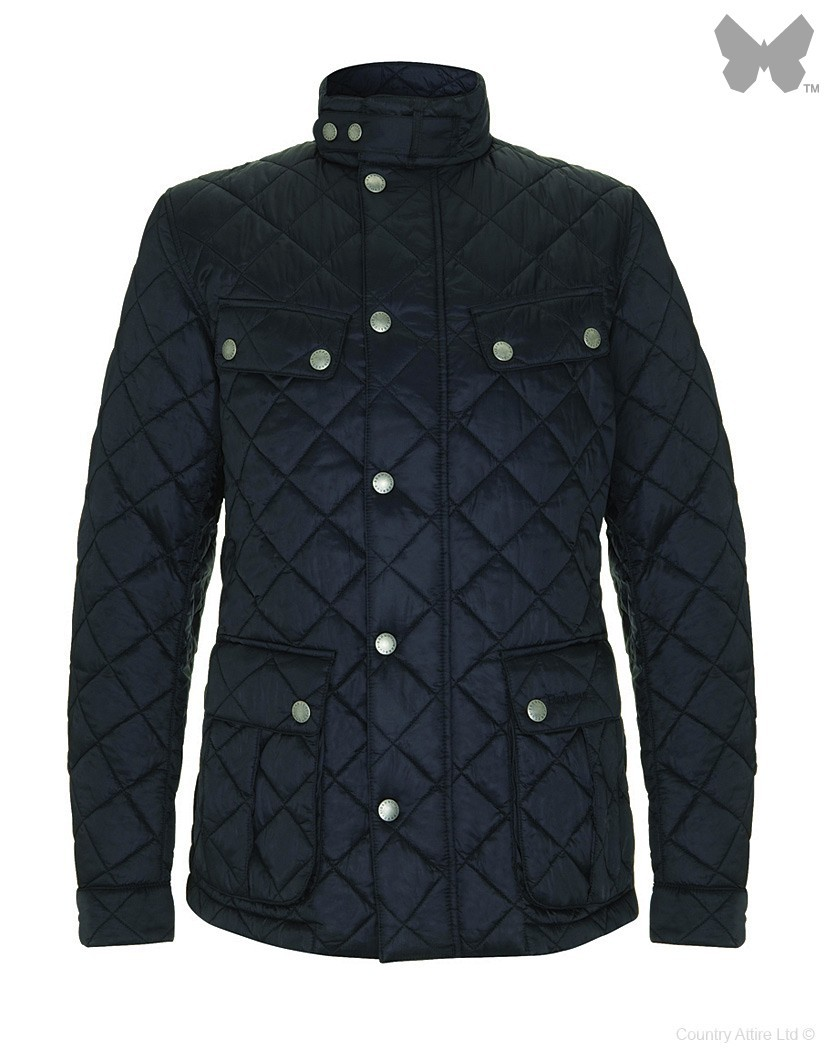 Barbour Navy Ariel Quilt Jacket