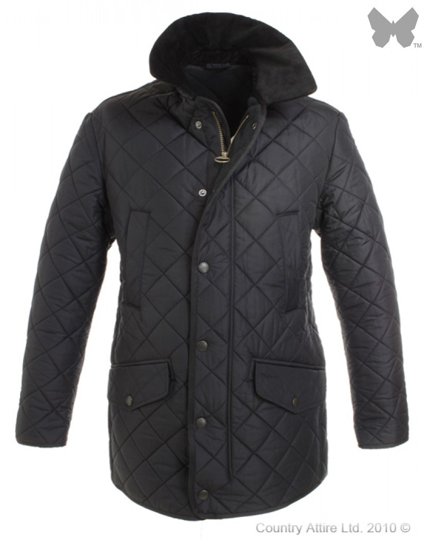 Barbour Navy Bardon Quilt Jacket
