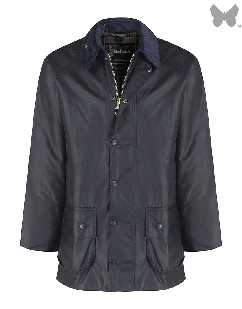 Barbour Navy Beaufort Wax Jacket