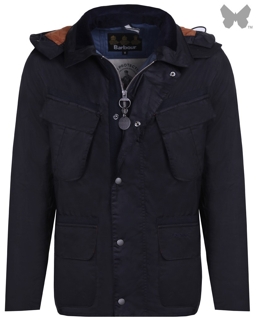 Barbour Navy Benkirk Wax Jacket