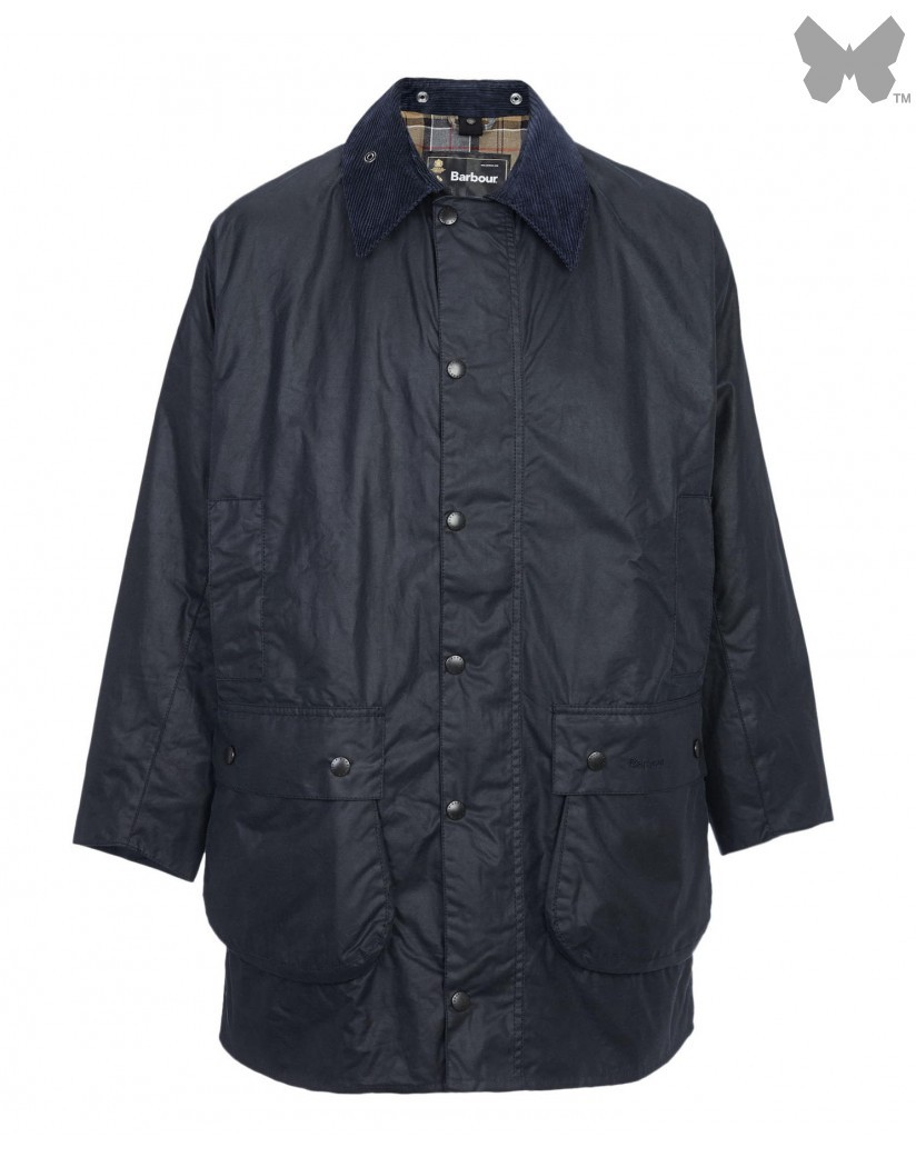 Barbour Navy Border Wax Jacket