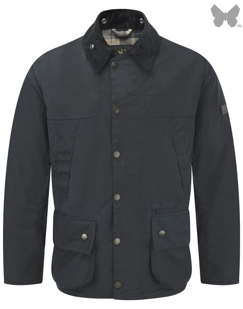 Barbour Navy Chartner Waxed Jacket