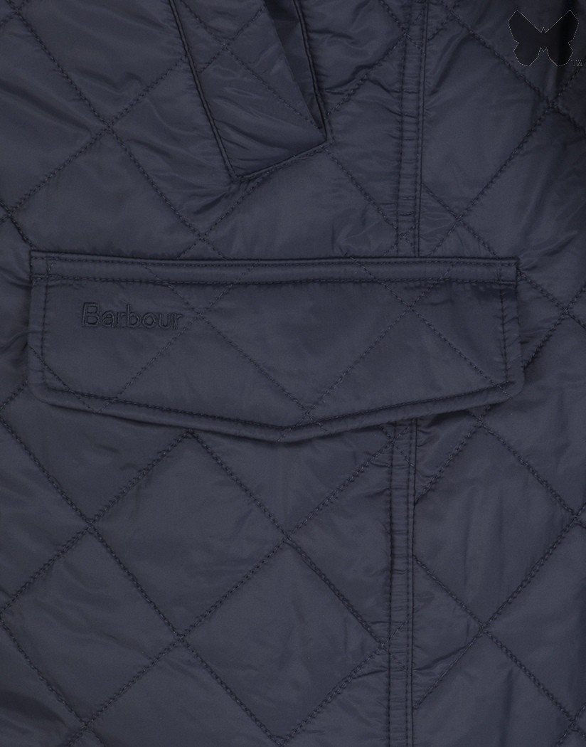 Barbour Navy Fife Quilted Jacket