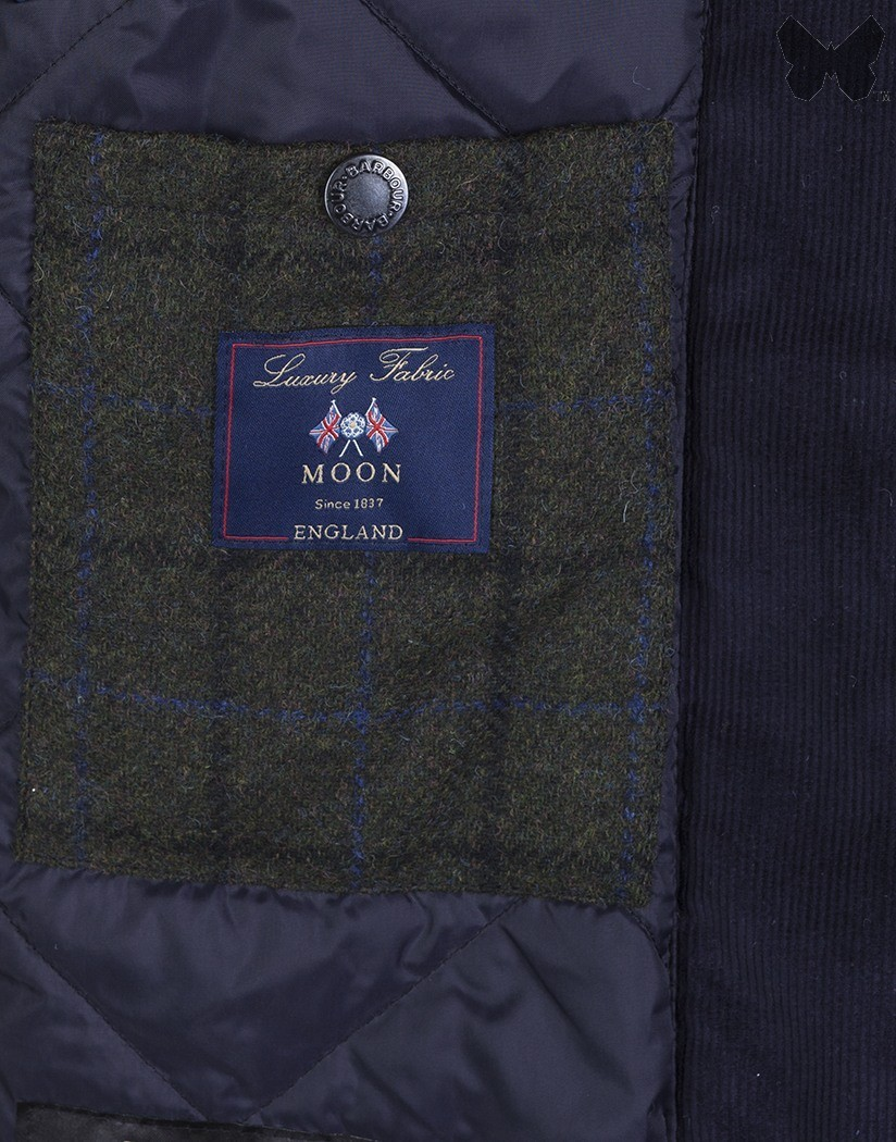 Barbour Navy Kempt Wax Jacket
