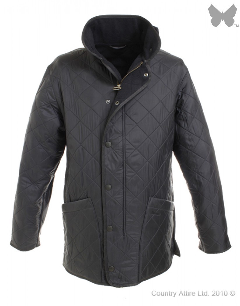 Barbour Navy Polarquilt Long Jacket