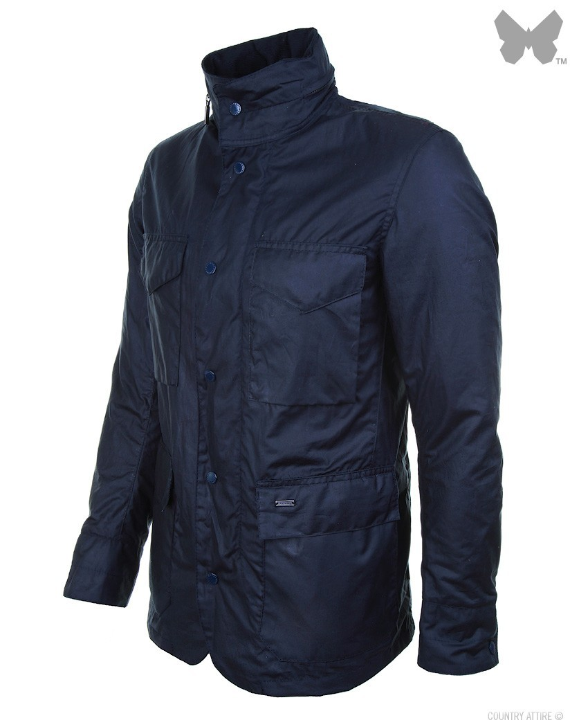 Barbour Navy Tailored Wax Sapper Jacket