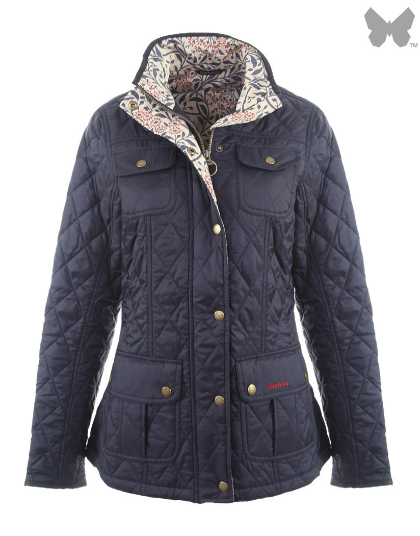 Barbour Navy/Michaelmas Daisy Alice Quilted Jacket