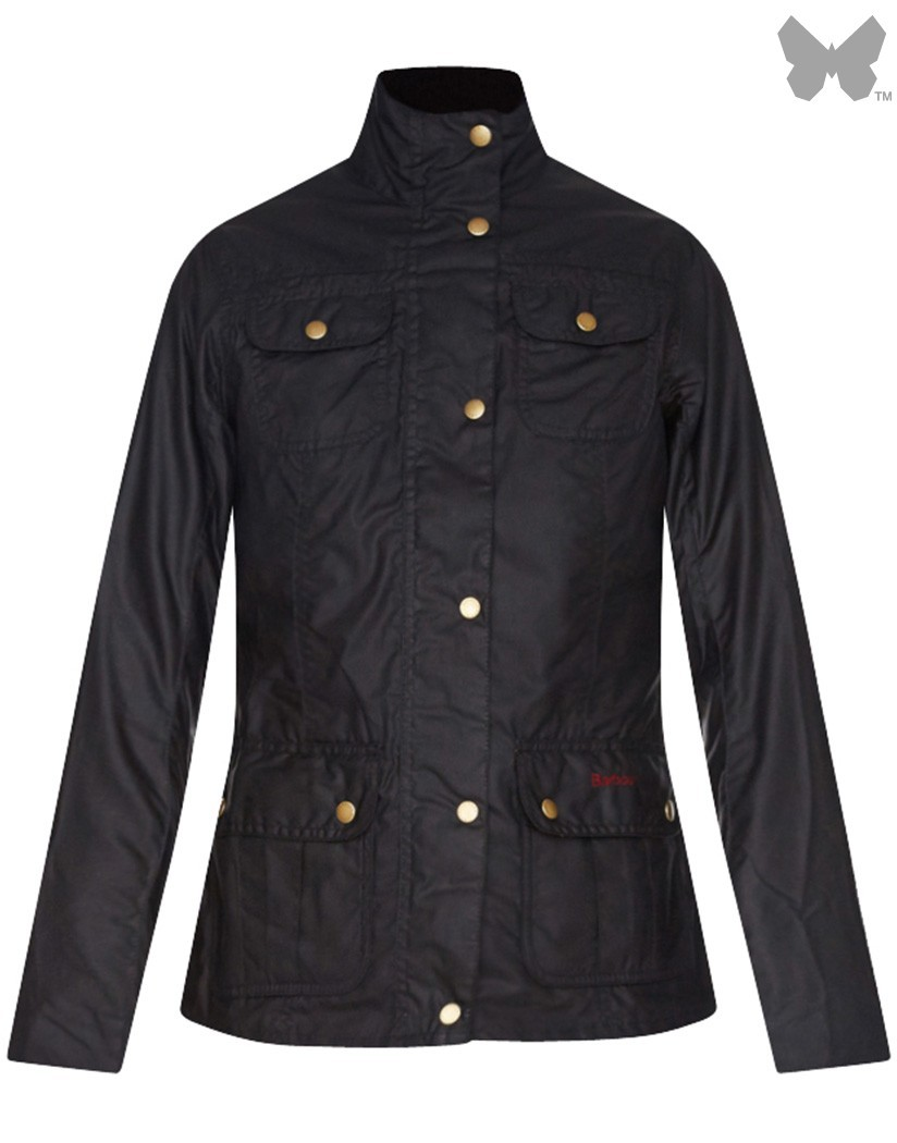 Barbour Navy/Michaelmas Daisy Emma Wax Jacket