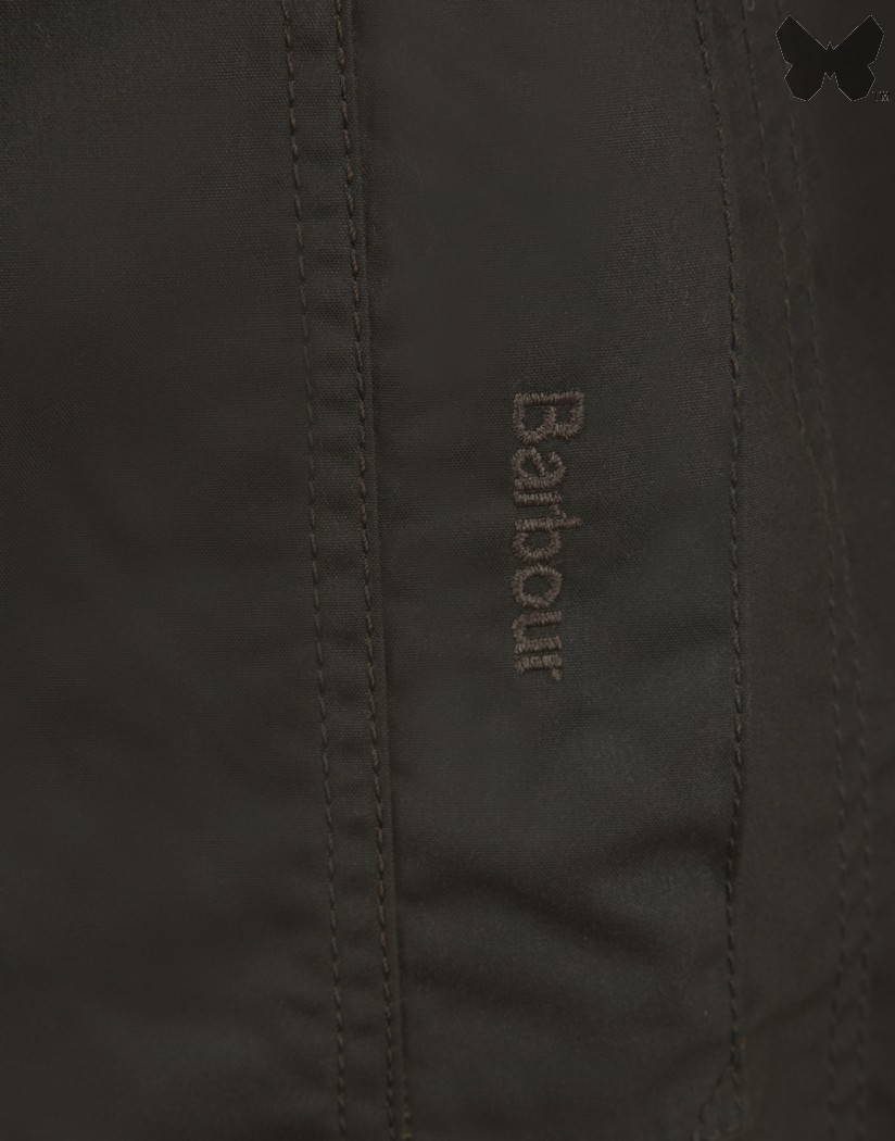 Barbour Olive Belsay Waxed Jacket