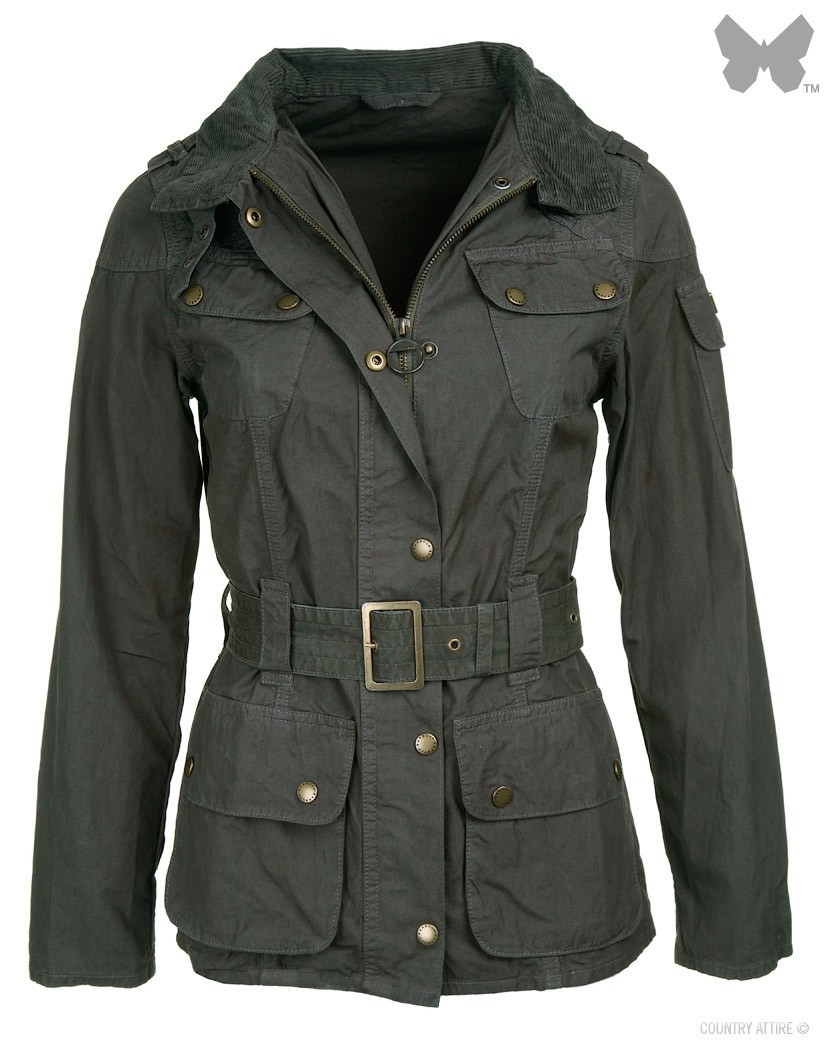 Barbour Olive Brompton International Jacket