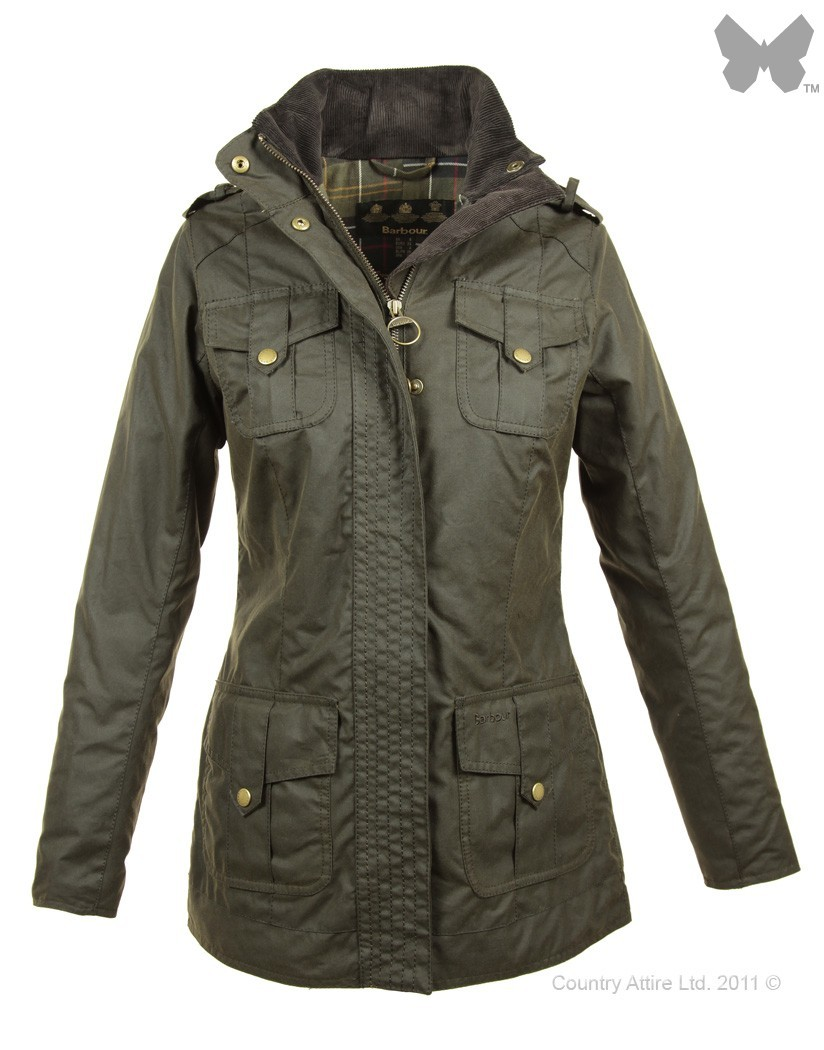 Barbour Olive Defence Jacket