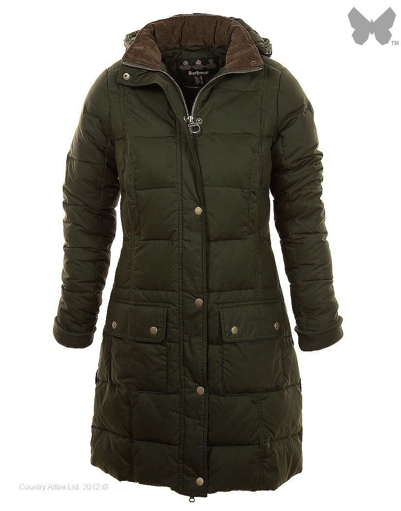 Barbour Olive Peninsula Down Coat
