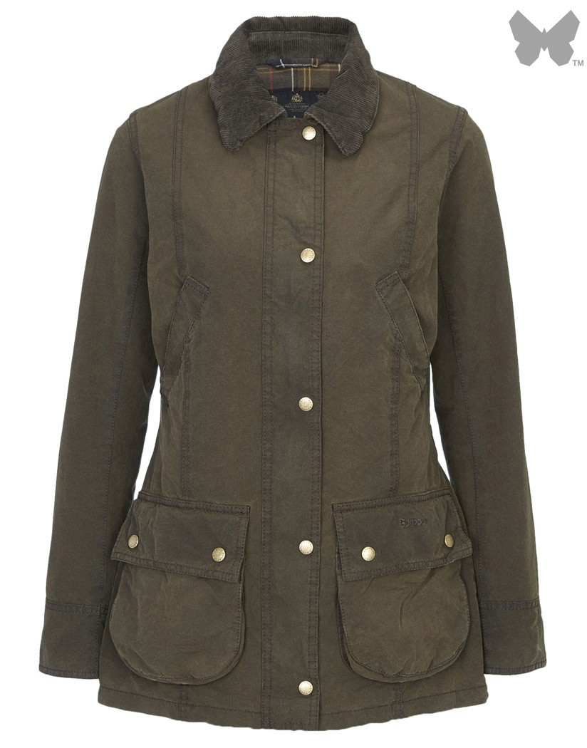 Barbour Olive Vintage Beadnell Wax Jacket