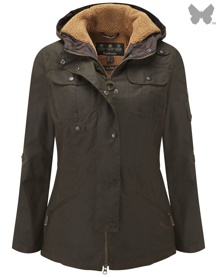 Barbour Olive Winter Force Parka Jacket