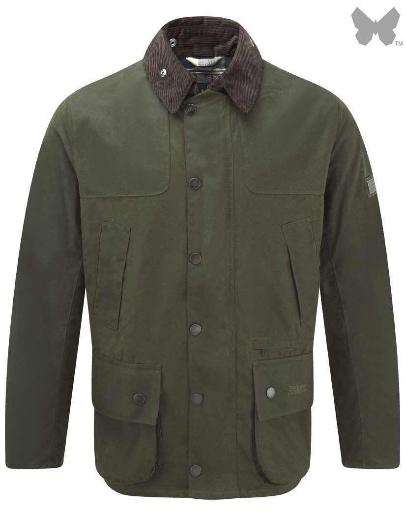 Barbour Olive Chartner Waxed Jacket