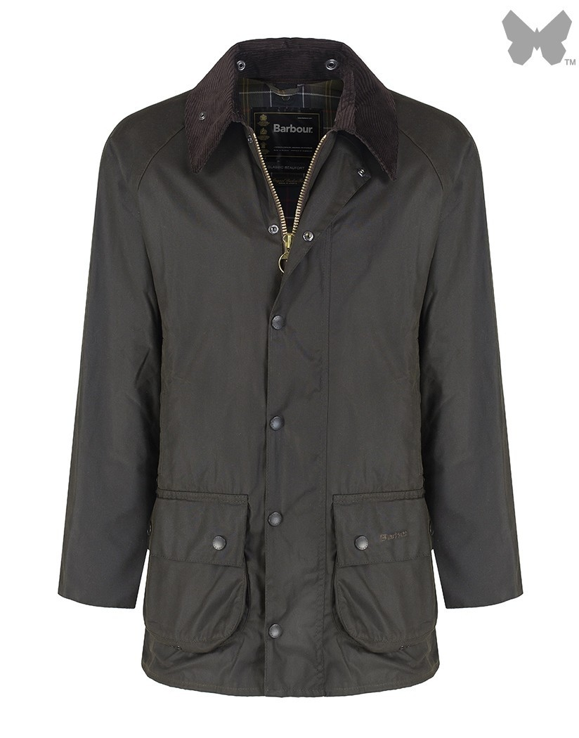 Barbour Olive Classic Beaufort Sylkoil Wax Jacket