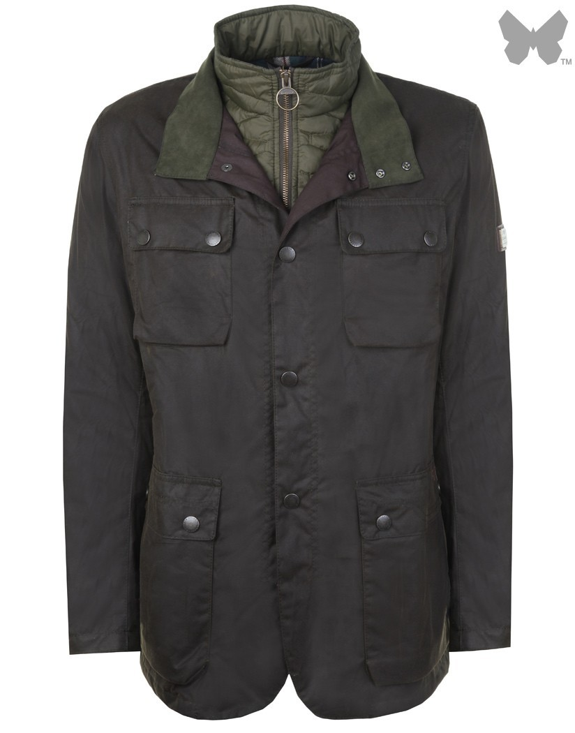 Barbour Olive Harthorpe Wax Jacket