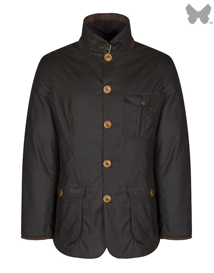 Barbour Olive Kempt Wax Jacket