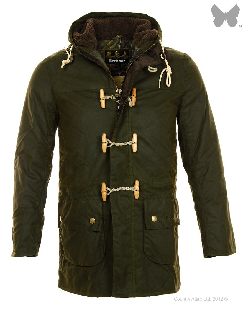 Barbour Olive Kirkham Wax Jacket