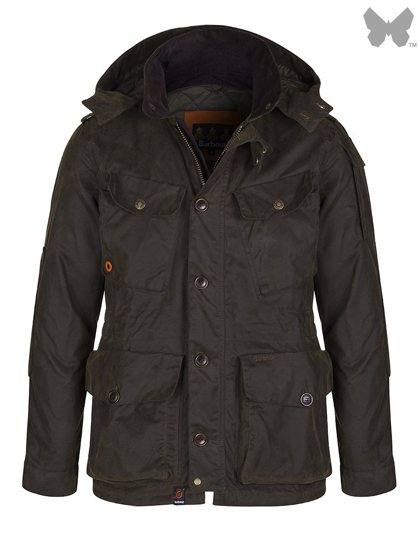 Barbour Olive Latrigg Wax Jacket