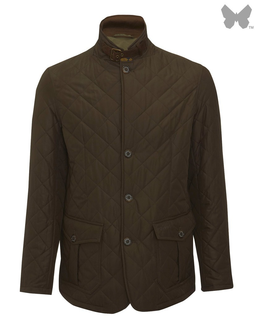 Barbour Olive Quilted Lutz Jacket