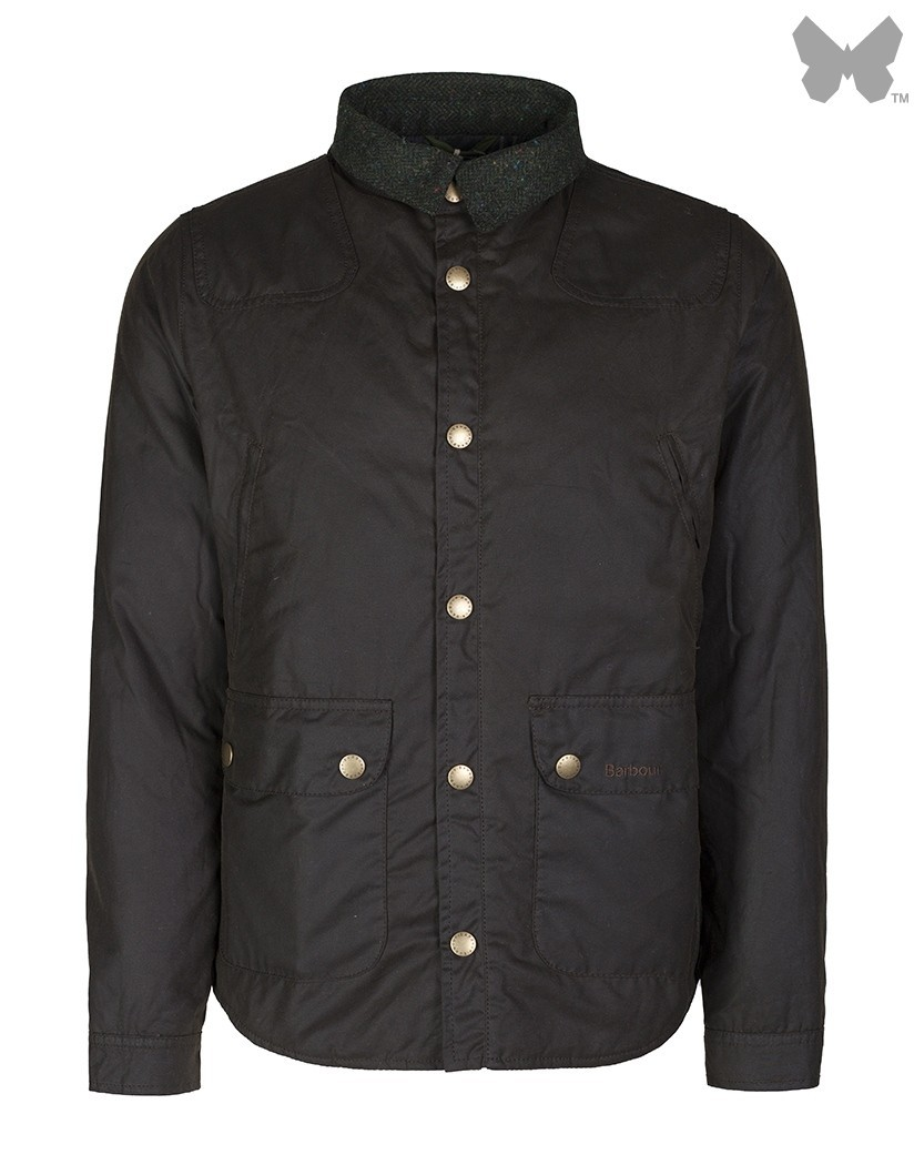 Barbour Olive Reelin Wax Jacket