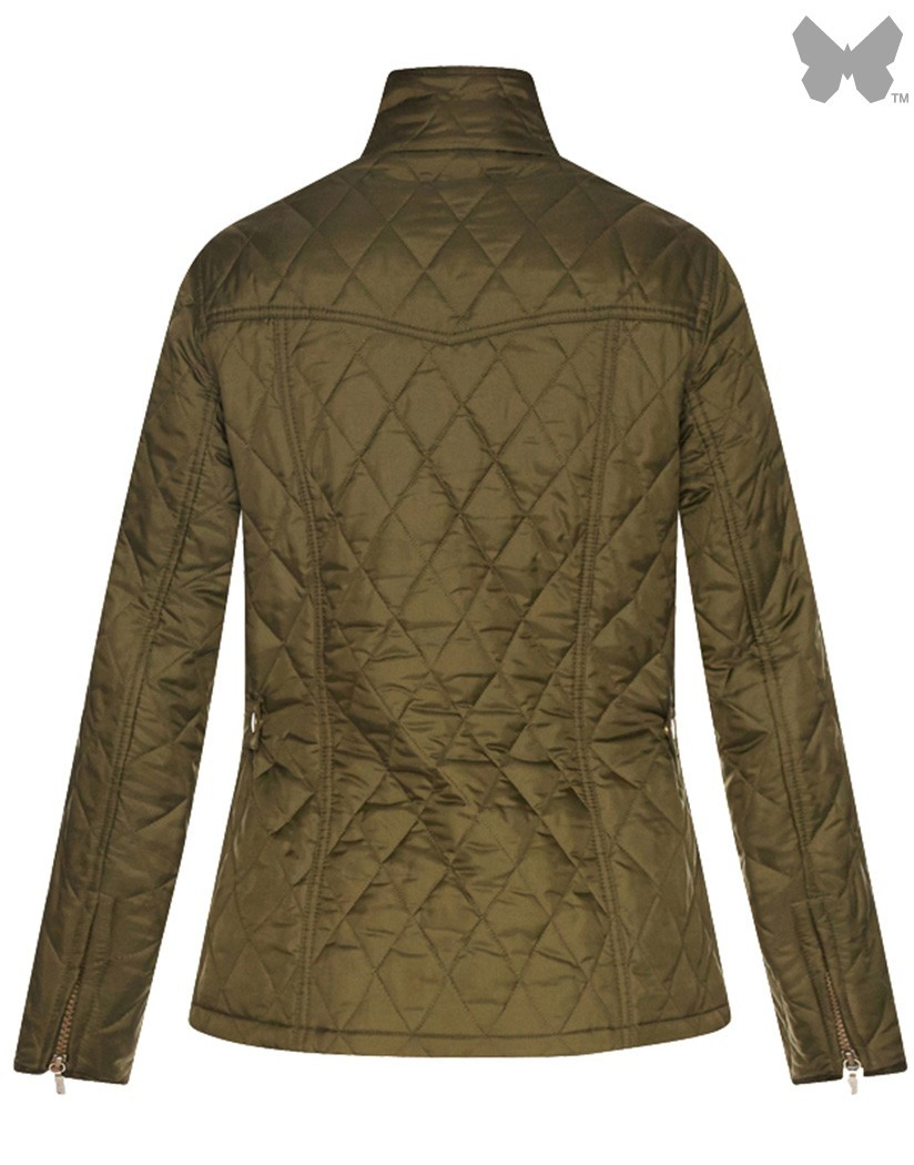 Barbour Olive/Michaelmas Daisy Alice Quilted Jacket