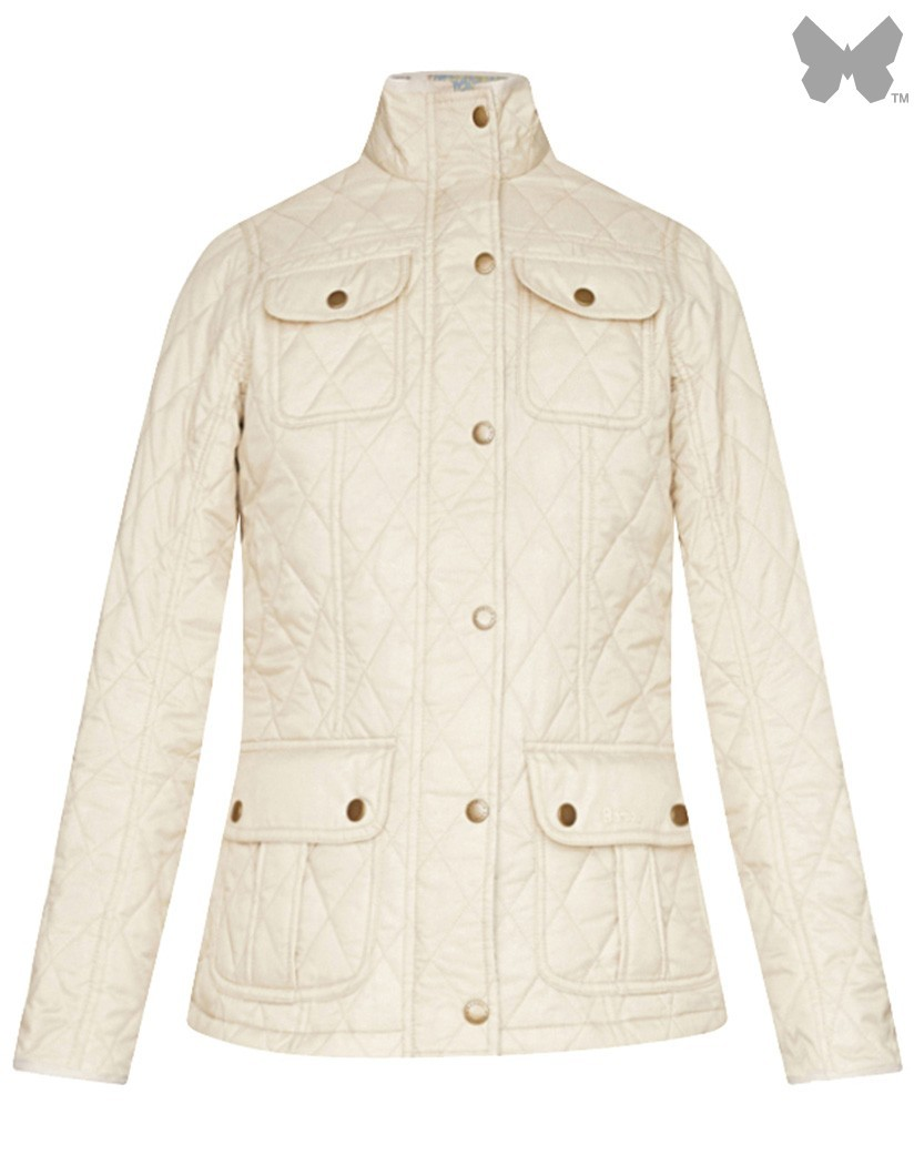 Barbour Pearl/Strawberry Thief Alice Quilted Jacket