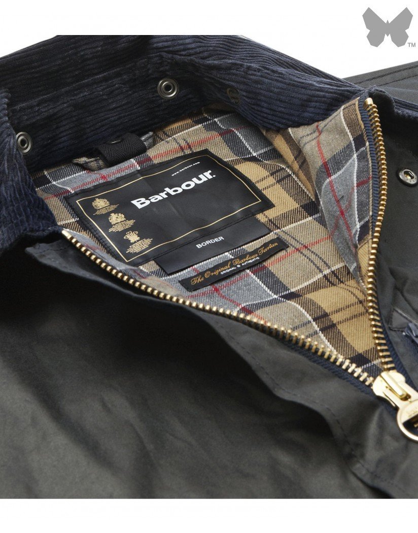 Barbour Sage Border Wax Jacket