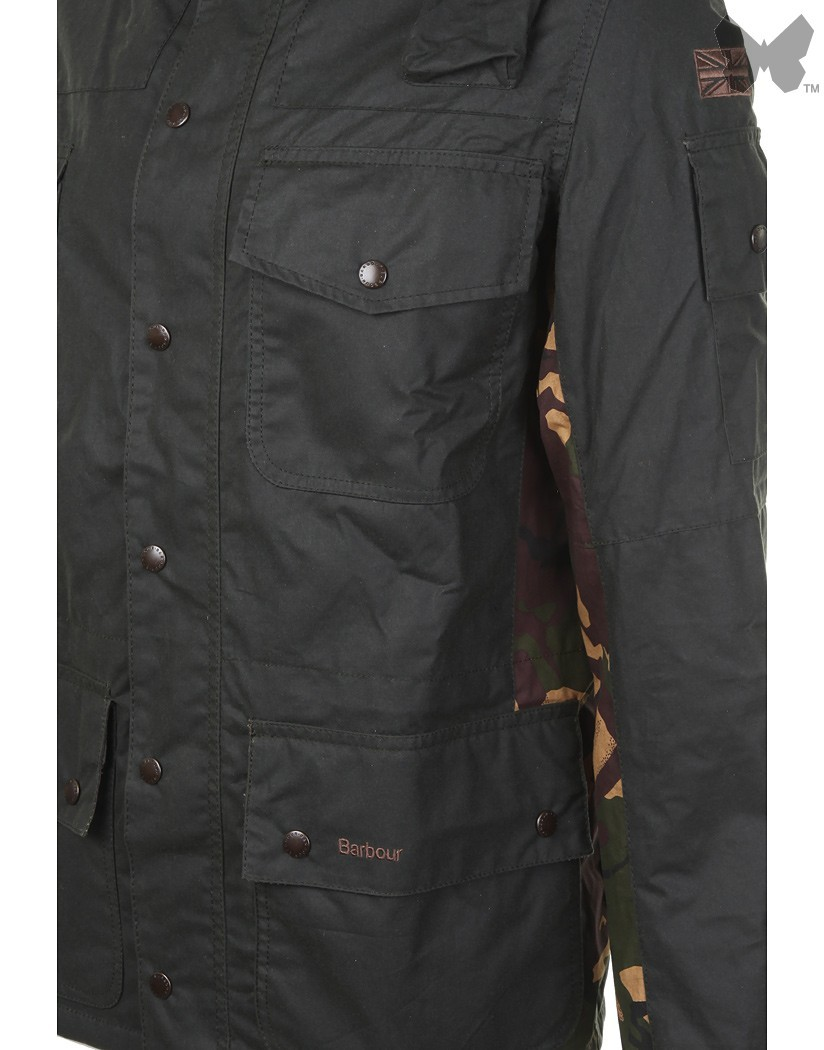 Barbour Sage Cowen Commando Wax Jacket