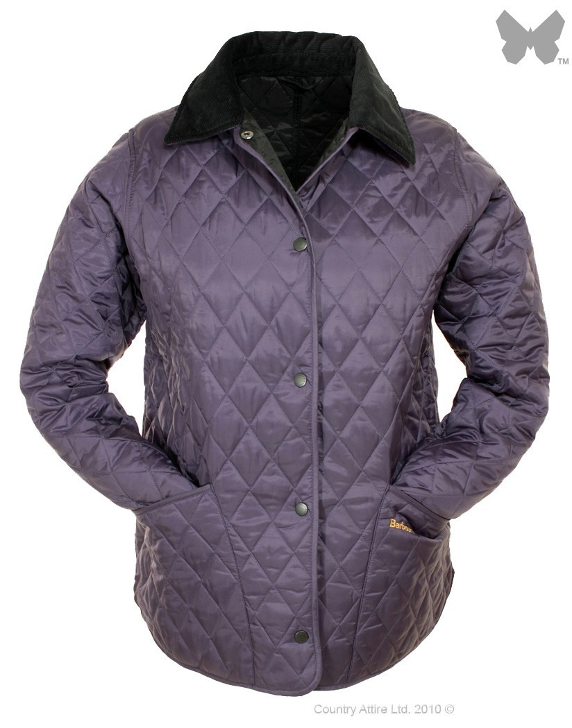 Barbour Grape Black Shaped Liddesdale Quilted Jacket