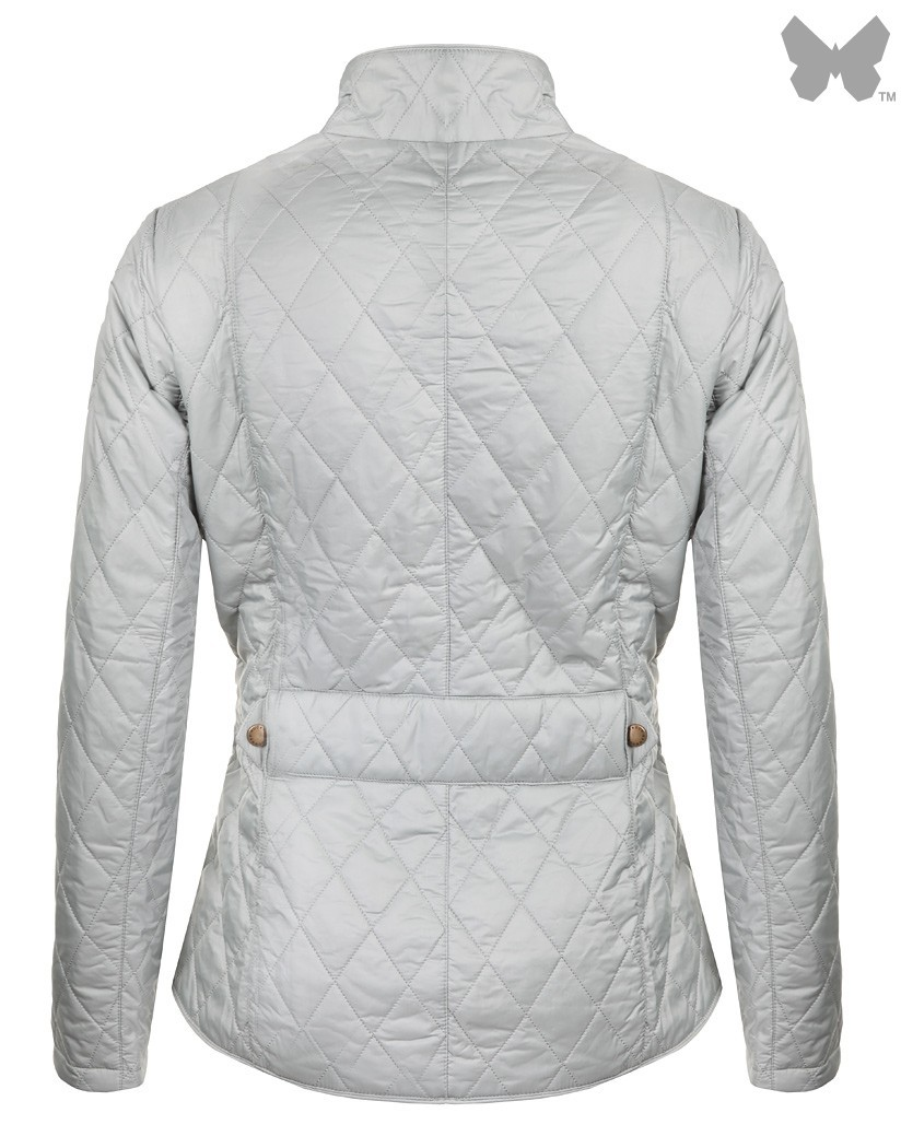 Barbour Pale Sage/Pearl Flyweight Cavalry Quilted Jacket